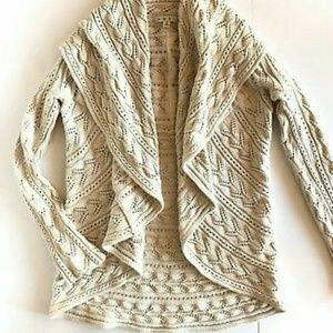 CABI Cream Knit Circle Cardigan